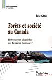 Forêts et société au Canada