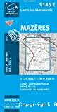 Carte IGN 1/25000, n° 2145 E, Mazères