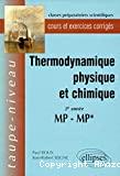 Thermodynamique physique et chimique