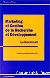 Marketing et gestion de la recherche et développement