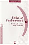 Etudes sur l'environnement- De l'échelle du territoire à celle du continent