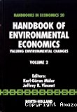 Valuing environmental changes
