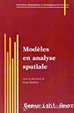 Modèles en analyse spatiale : information géographique et aménagement du territoire