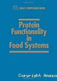 Protein functionality in food systems - 17th annual meeting (09/07/1993 - 10/07/1993, Chicago, Etats-Unis).