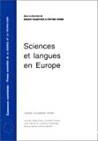 Sciences et langues en Europe