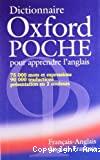 Dictionnaire Oxford poche pour apprendre l'anglais