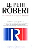 Le Petit Robert, dictionnaire de la langue française
